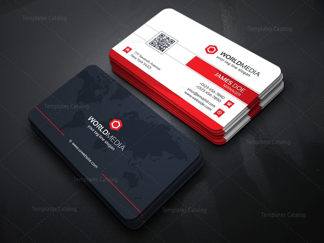 Media company business card template template catalog for Postcard business cards