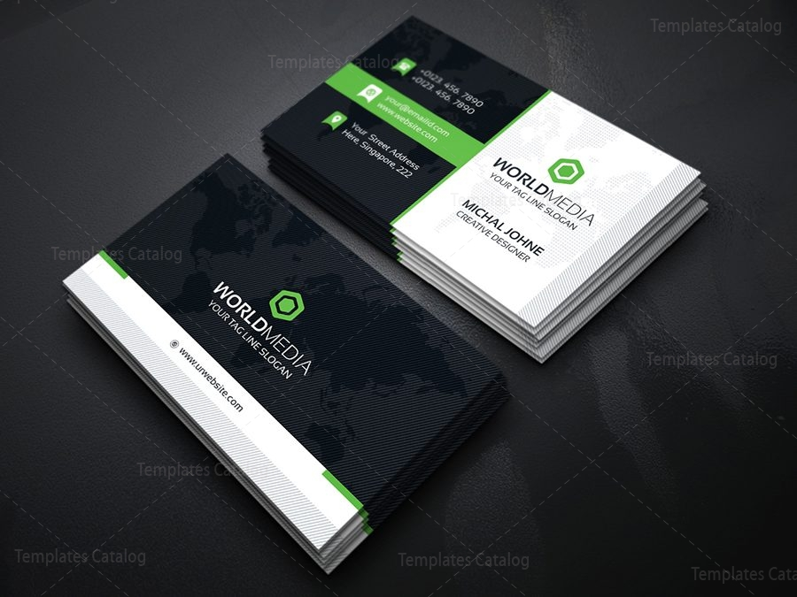 Media business card template template catalog - Design and print business cards at home ...