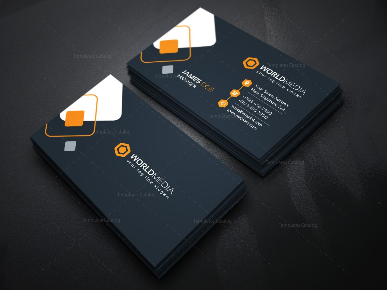 Technology pany Business Card Template Template Catalog