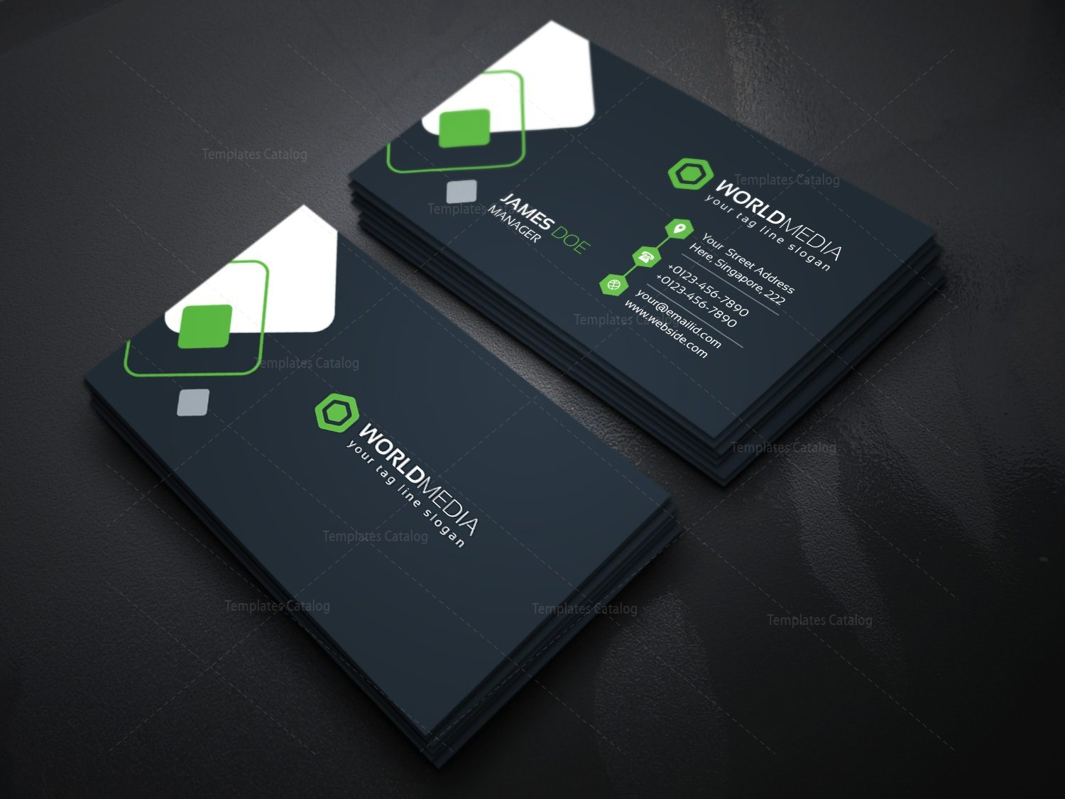 technology company business card template template catalog