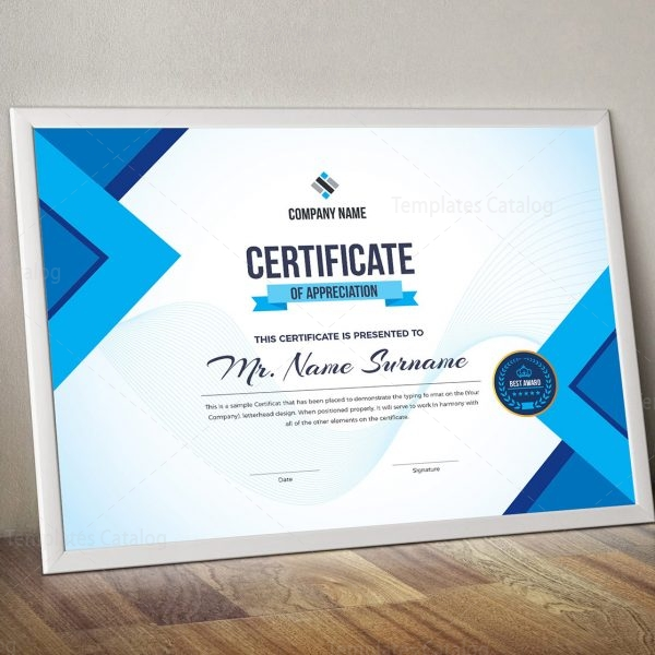Project Certificate Template