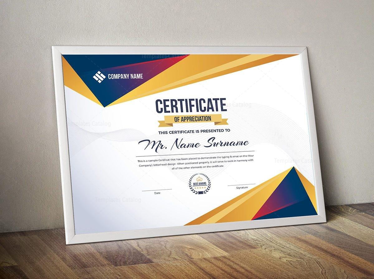 Certificate Template Ai
