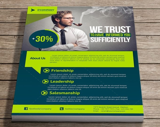 corporate flyer psd template 000011 template catalog