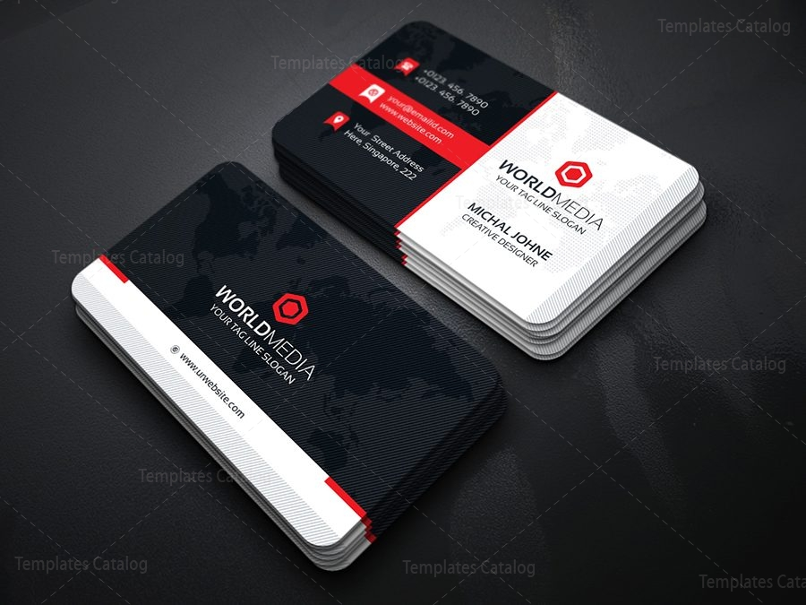Media Business Card Template - Template Catalog