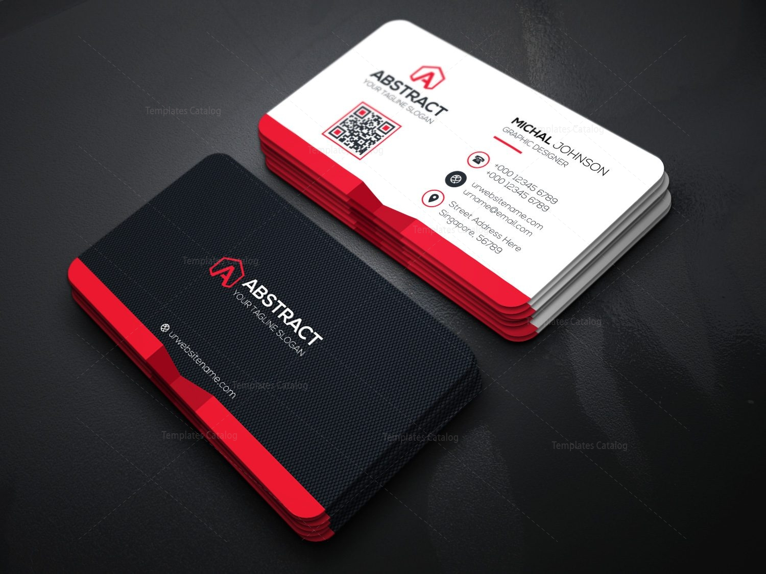 Corporate business card design template catalog corporate business card template accmission Images