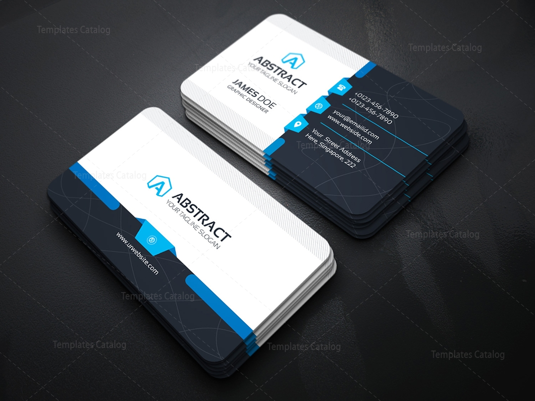 Corporate business card template 000031 template catalog for Busness card template