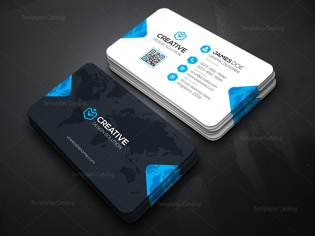 Creative Company Business Card Template Template Catalog - Cool business cards templates