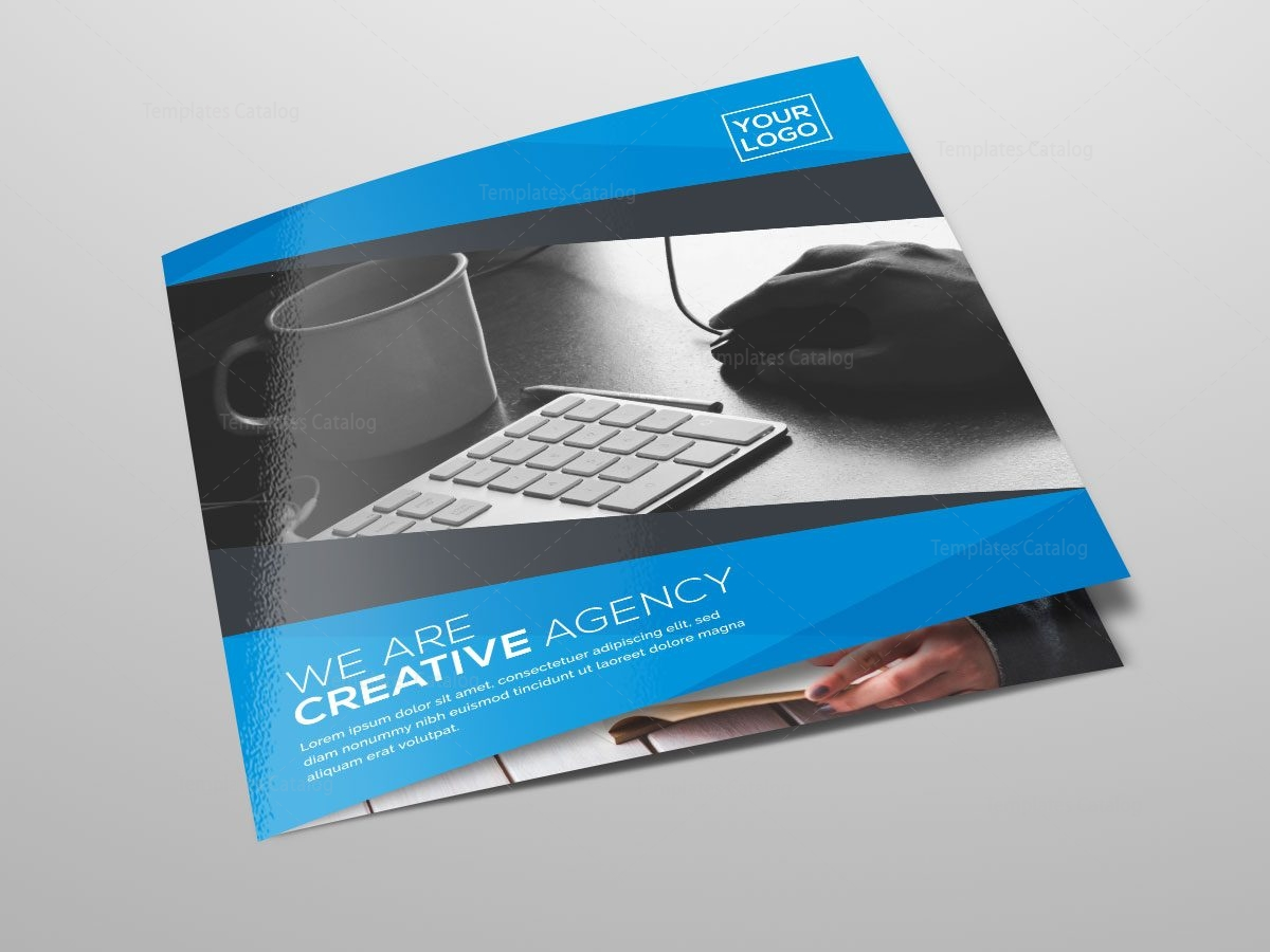 Square tri fold business brochure design template catalog for Tri fold business brochure template