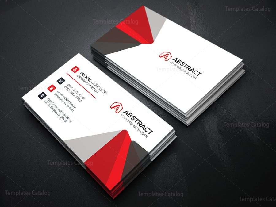 Free elegant business card template template catalog free business card template reheart Choice Image