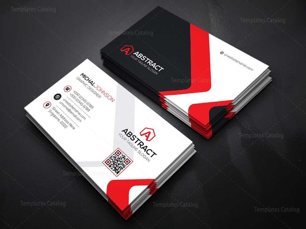 Corporate business card design template catalog business card template accmission