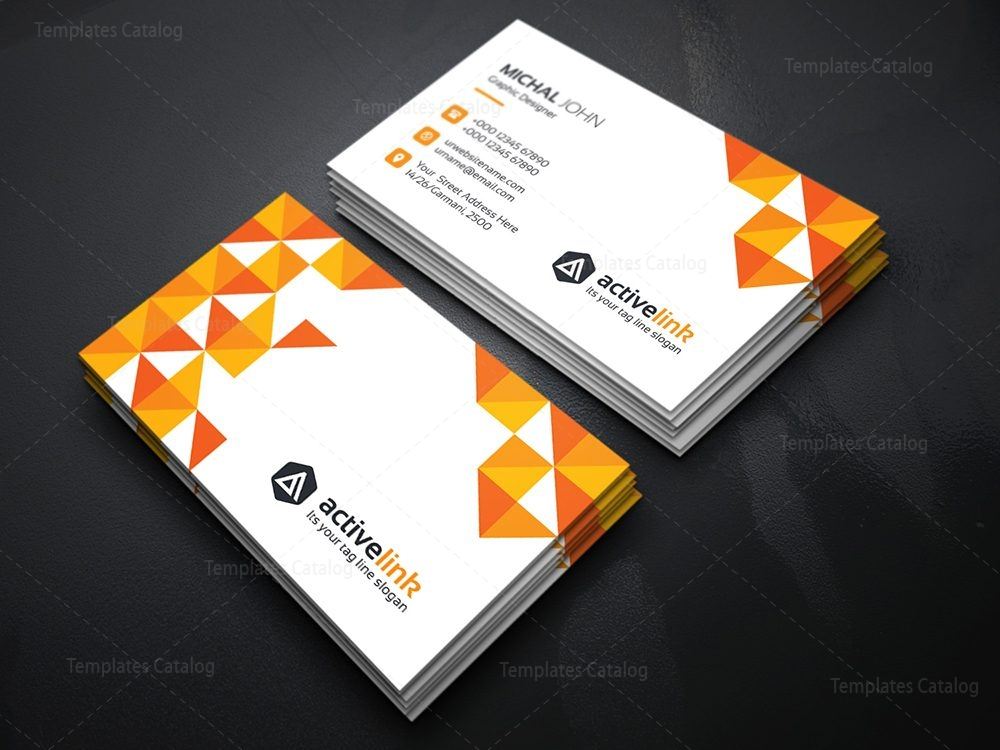 Activelink business card template template catalog for Busness card template