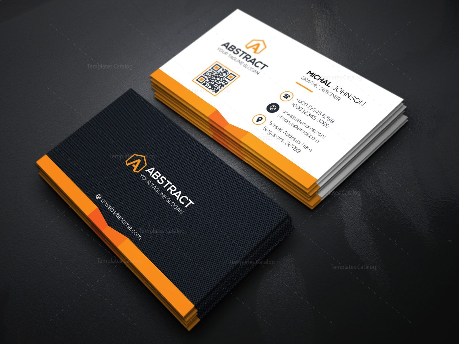 Corporate business card design template catalog home print business cards friedricerecipe Gallery
