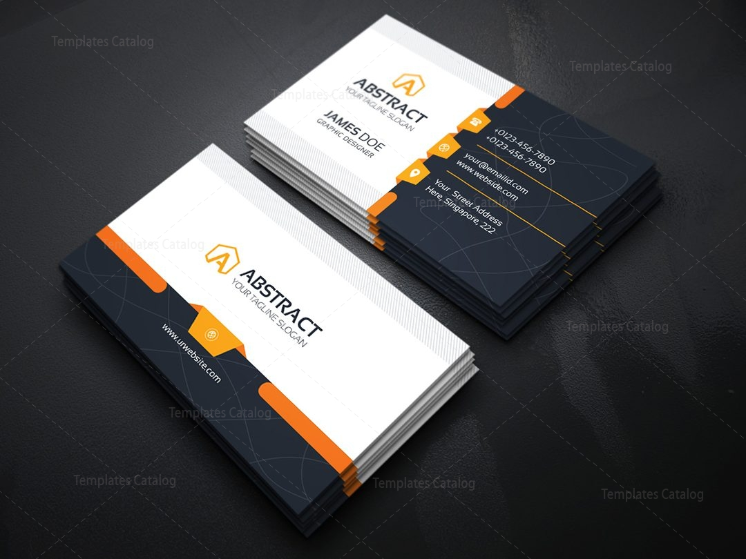 Corporate Business Card Template 000031 - Template Catalog