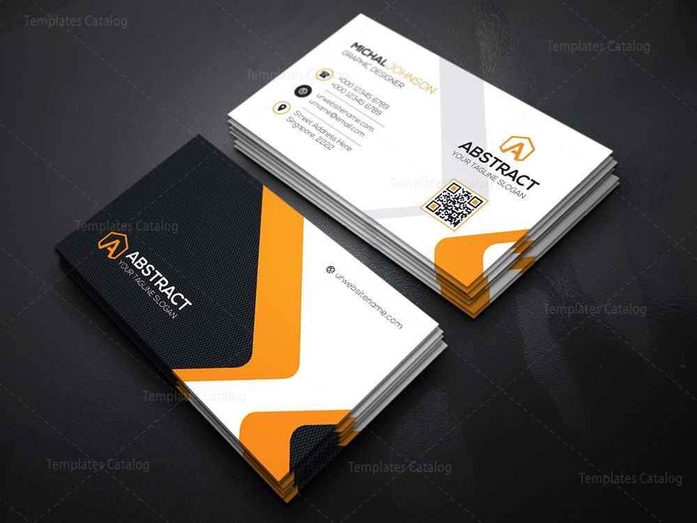 Corporate business card design template catalog 03technology business card cheaphphosting