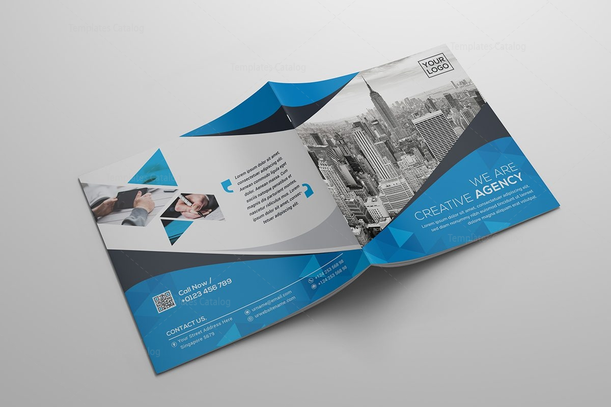 Square bi fold business brochure template template catalog bi fold business brochure template flashek Image collections