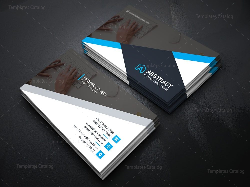 Dark business card template template catalog 04dark business card colourmoves