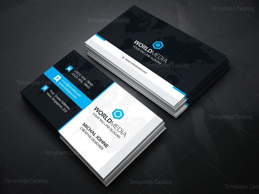 Media business card template template catalog media business card template reheart Image collections