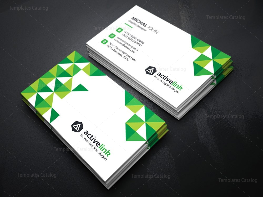 Activelink business card template template catalog for Photo business card template