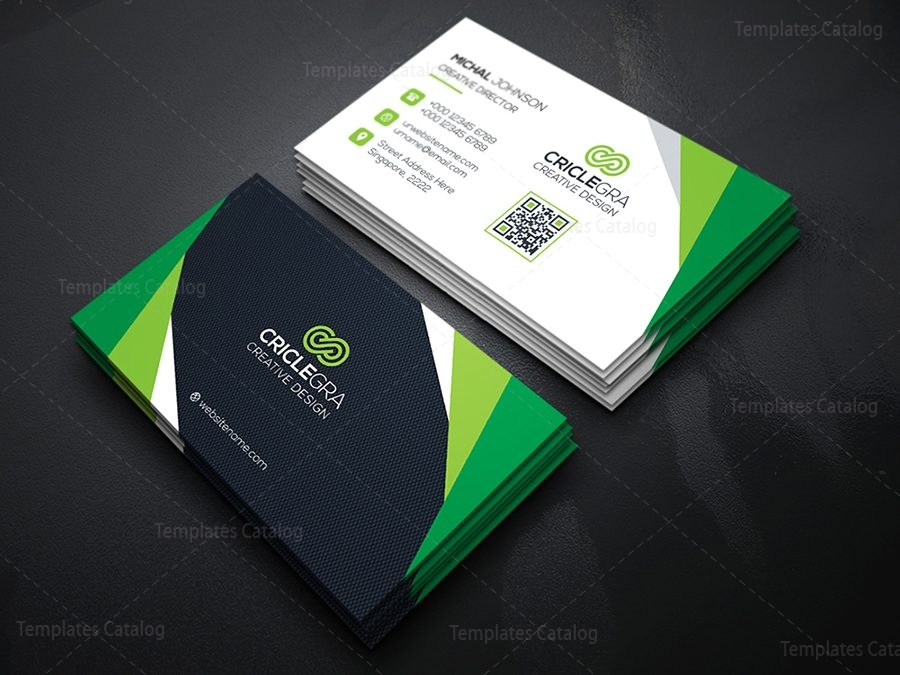 Corporate business card design template catalog 05technology business card colourmoves