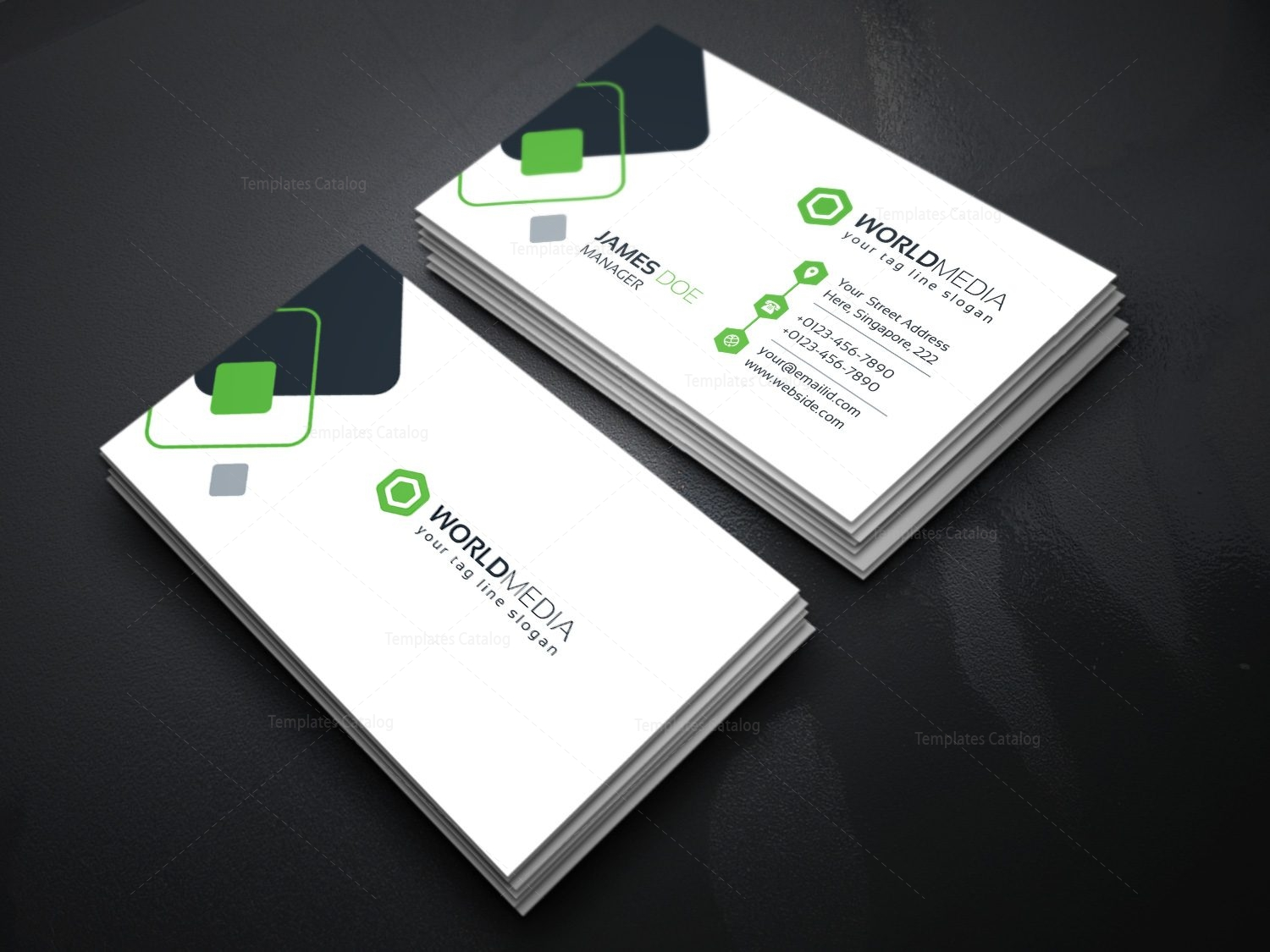 Technology company business card template template catalog company business card template cheaphphosting Image collections