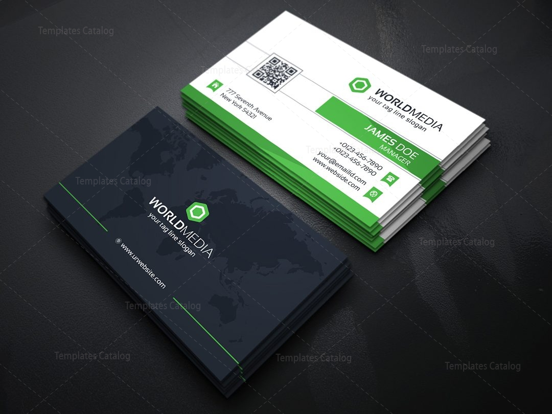 Media company business card template template catalog 05technology business card maxwellsz