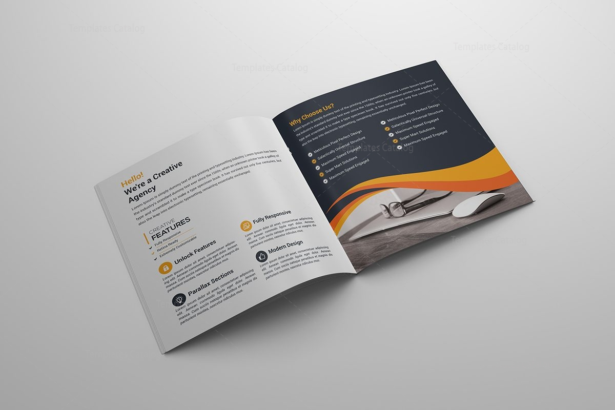 Square bi fold creative brochure template 000043 for Creative brochure template