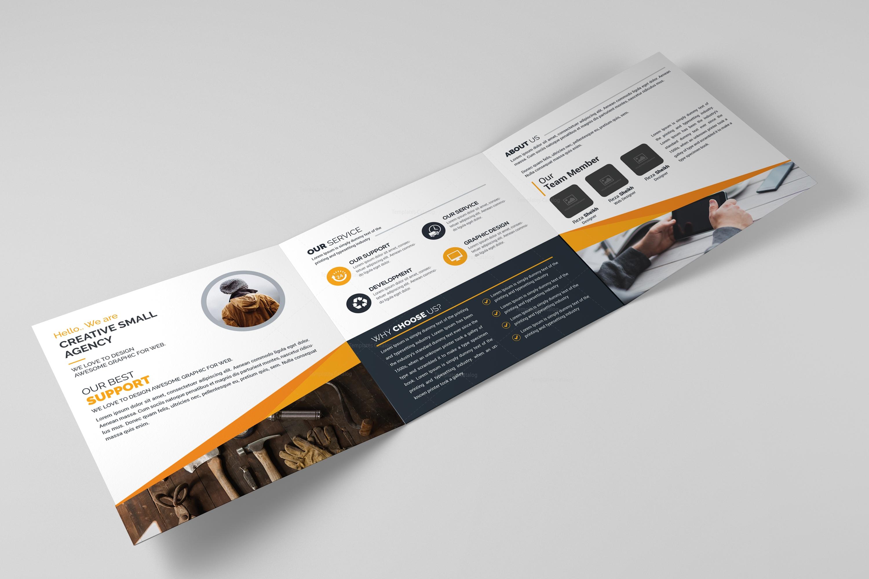 square tri fold business brochure design template catalog