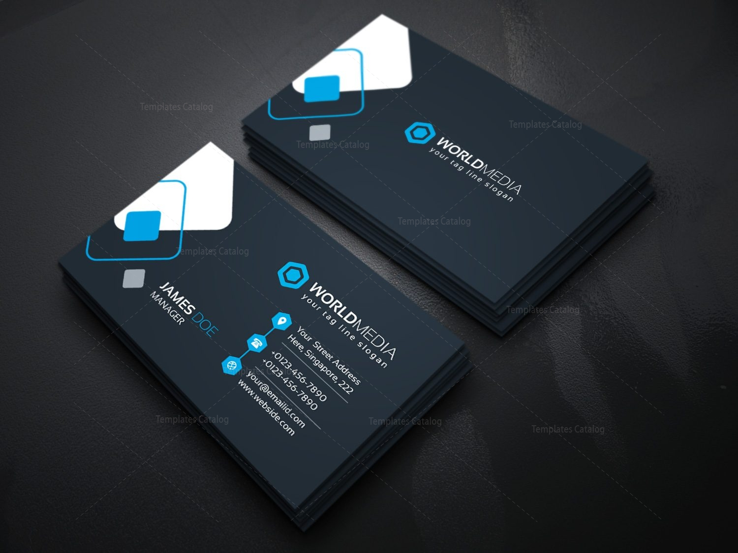 Technology company business card template template catalog 09technology business card magicingreecefo Gallery