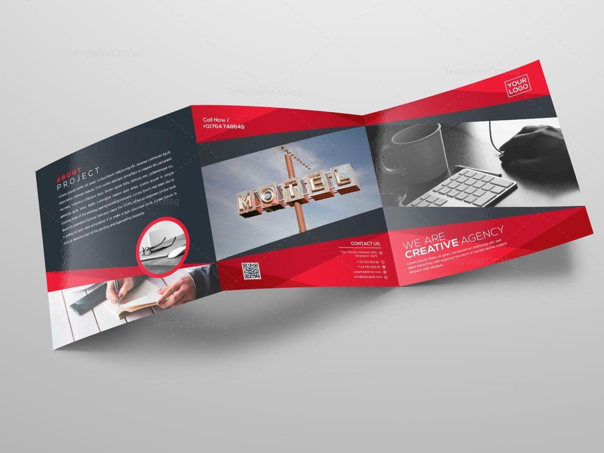 Square TriFold Business Brochure Design Template Catalog - Tri fold business brochure template