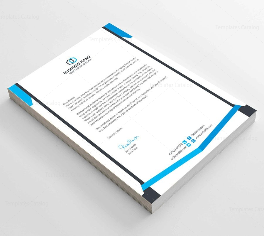 Clean Corporate Letterhead Template  Template Catalog