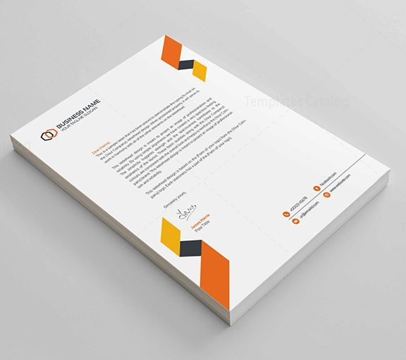 Clean corporate letterhead design template catalog letterheadimage1 accmission