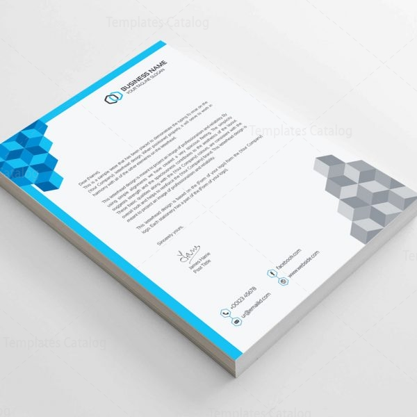 Corporate Letterhead Template  Template Catalog