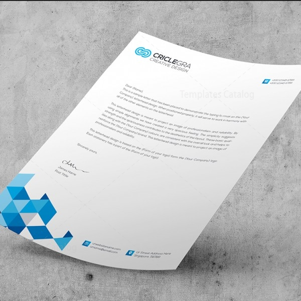 Psd Corporate Letterhead Template 000401: Elegant Corporate PSD Letterhead Templates 000027