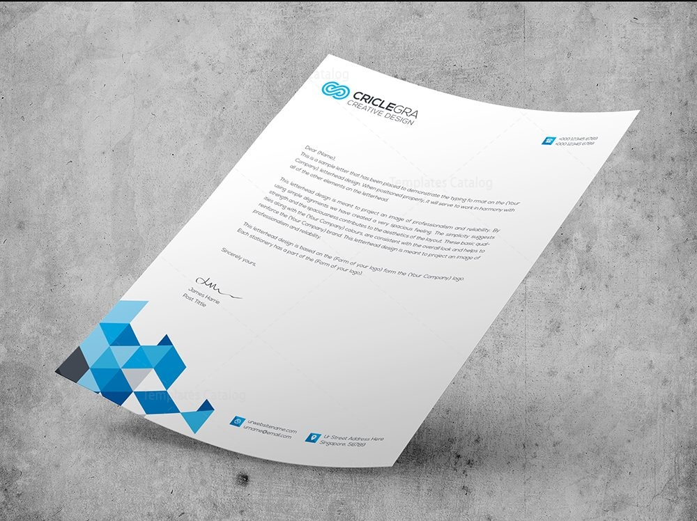 Elegant Corporate Psd Letterhead Templates   Template Catalog