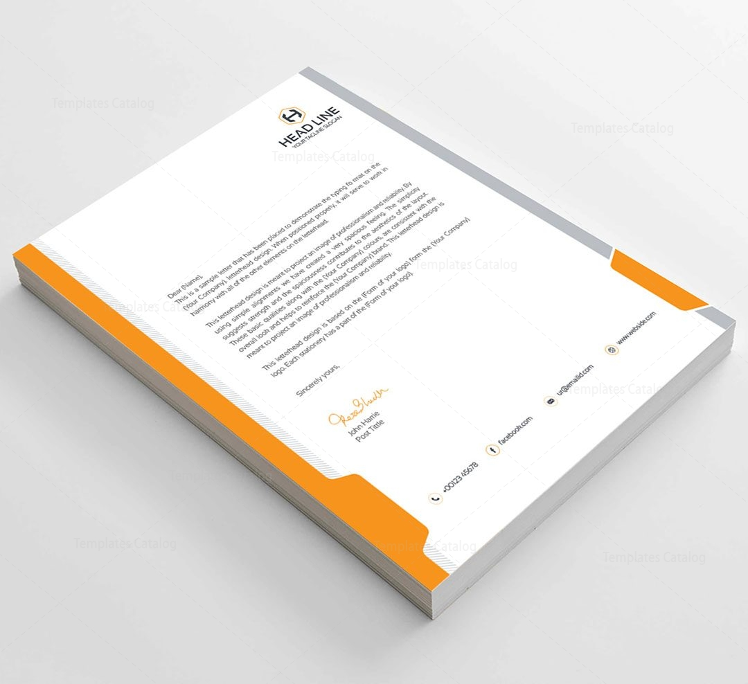Corporate Business Letterhead  Template Catalog