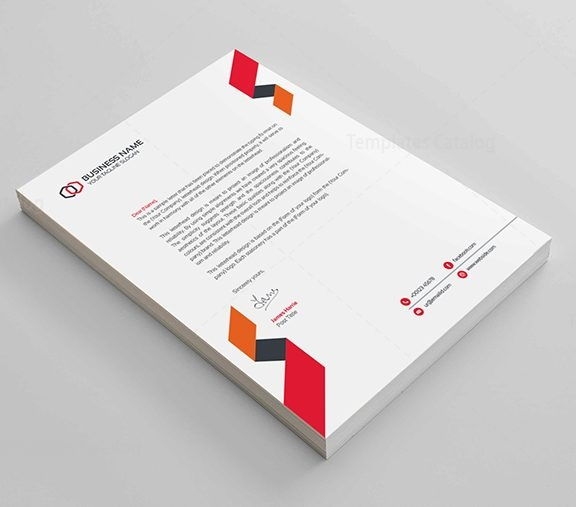 Clean Corporate Letterhead Template: Clean Corporate Letterhead Design