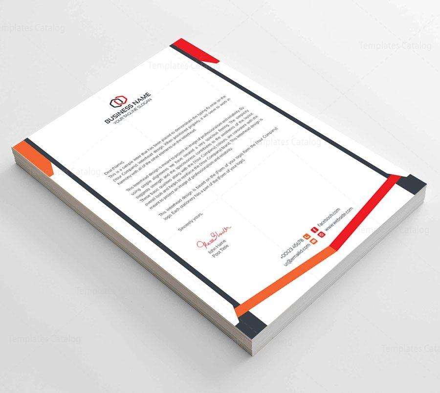 Clean Corporate Letterhead Template: Clean Corporate Letterhead Template