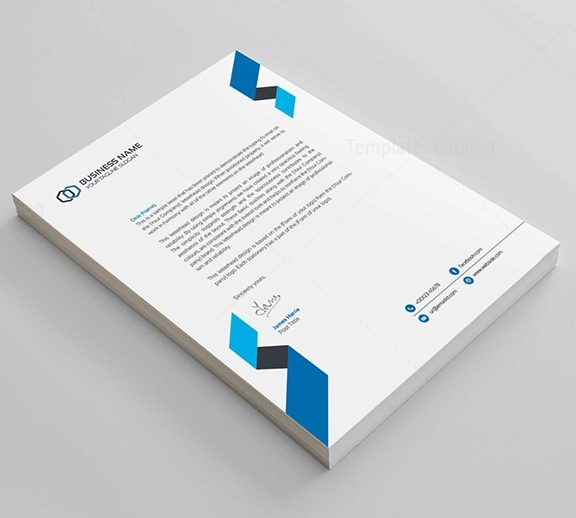 clean corporate letterhead design template catalog