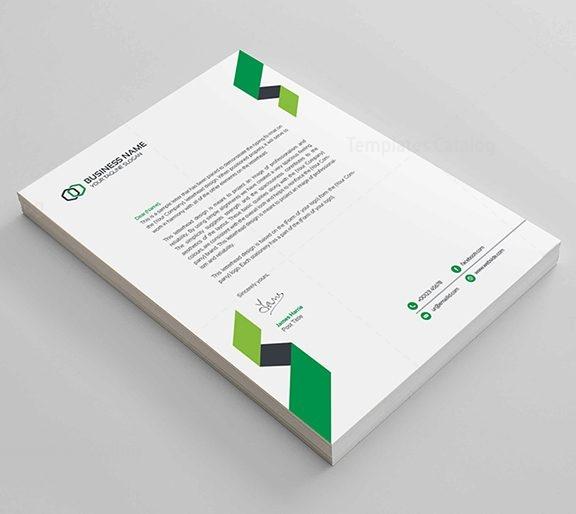Corporate Letterhead Template: Clean Corporate Letterhead Design