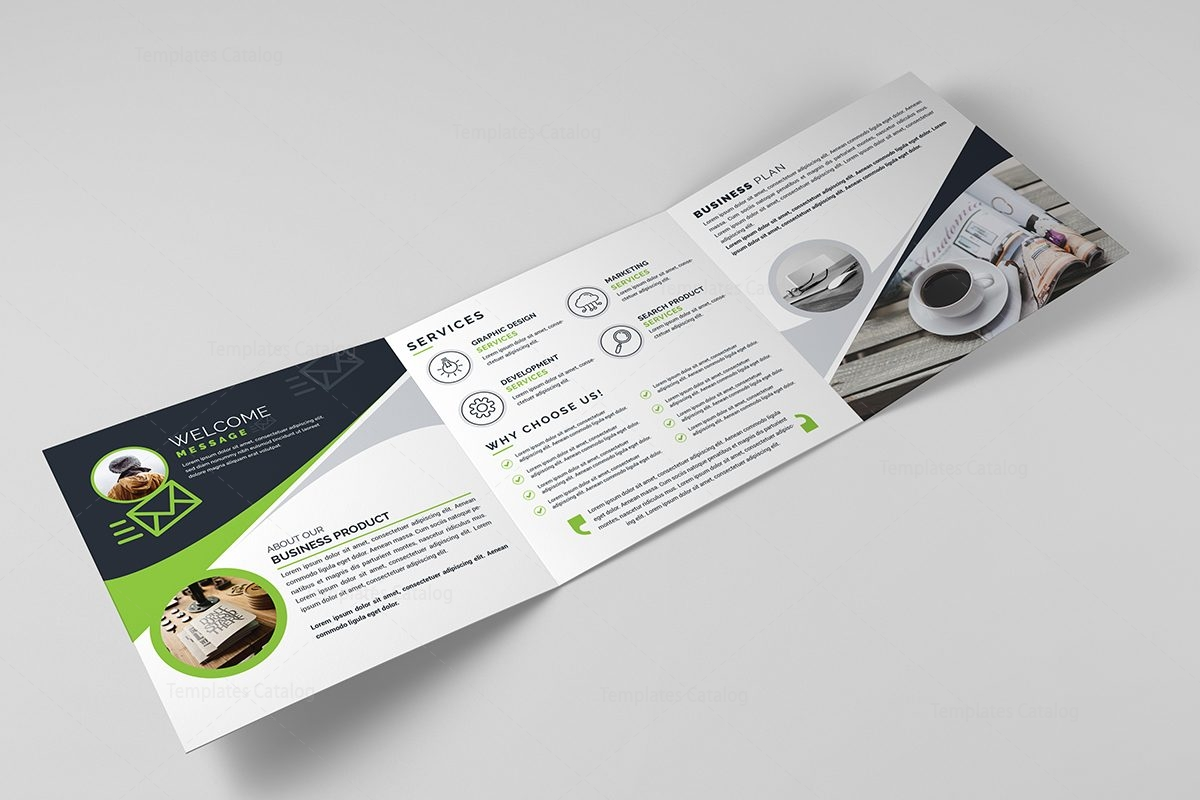 square trifold business brochure template template catalog