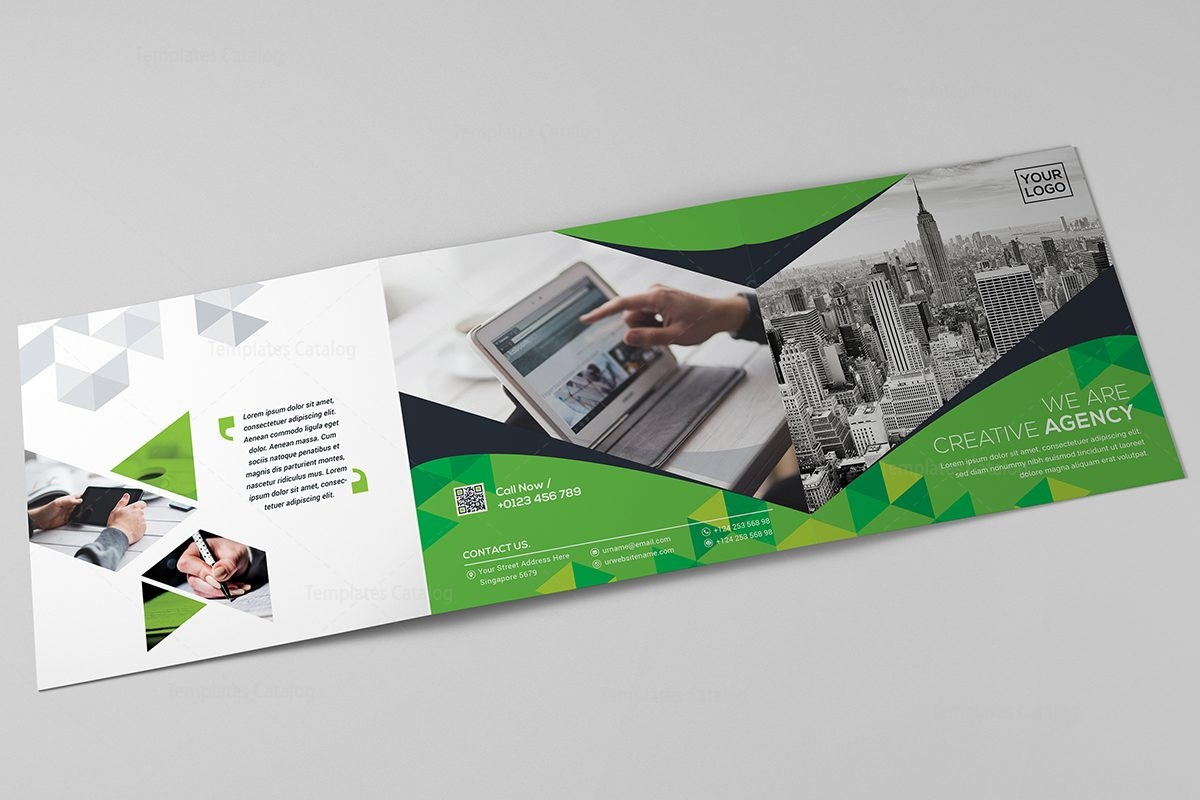 Square tri fold business brochure template template catalog for Tri fold business brochure template