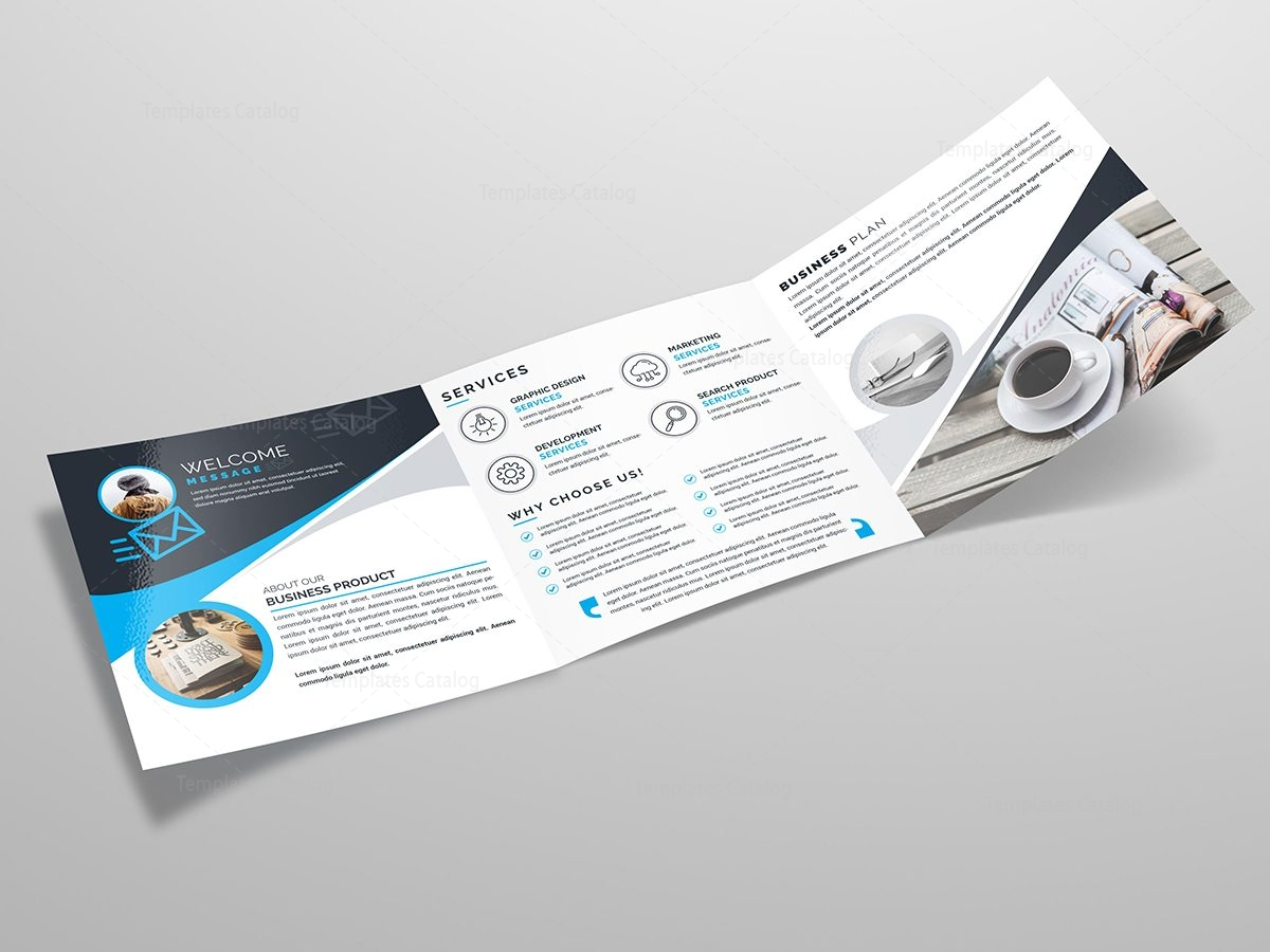 square tri fold business brochure template 2