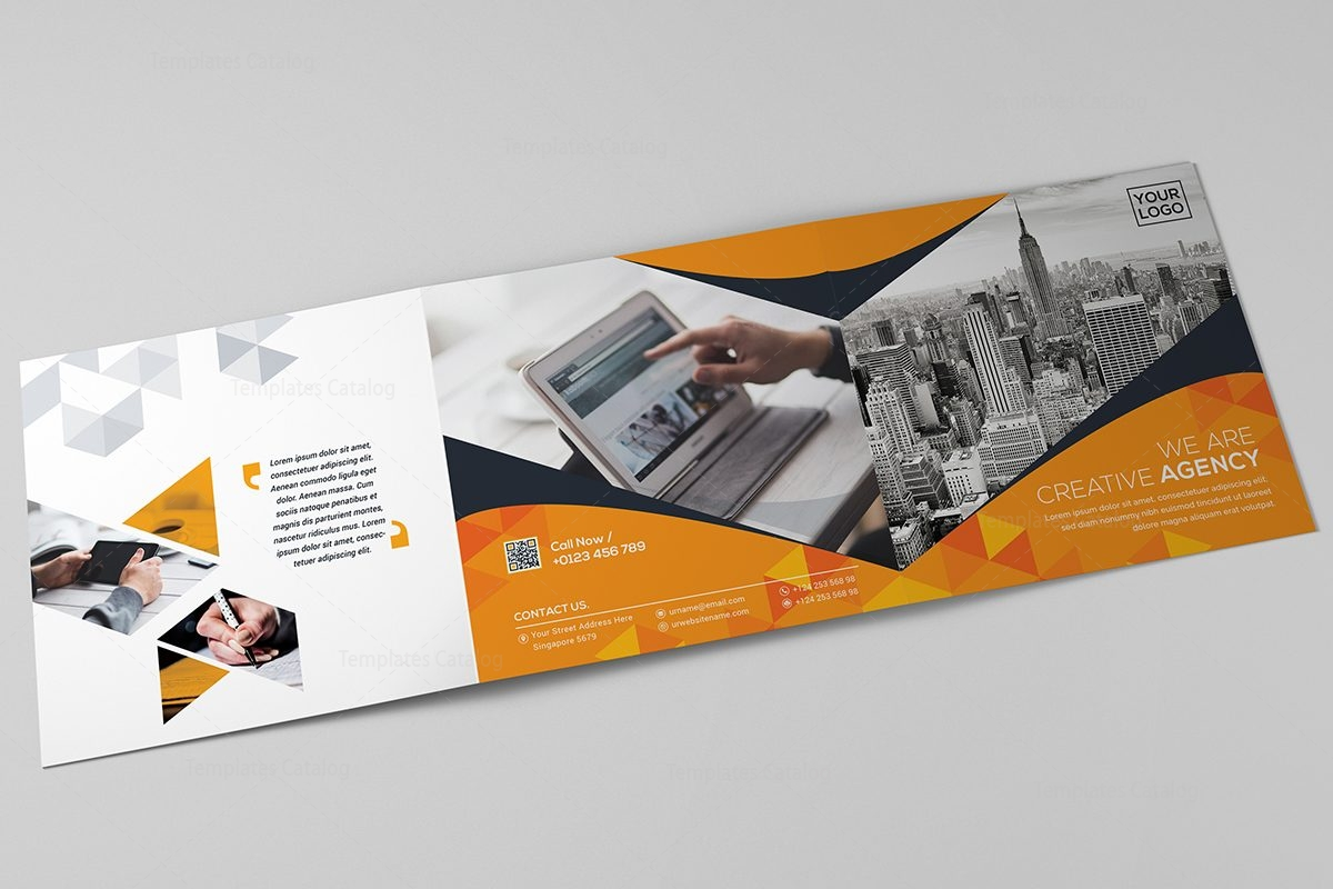 6 fold brochure template - square tri fold business brochure template template catalog