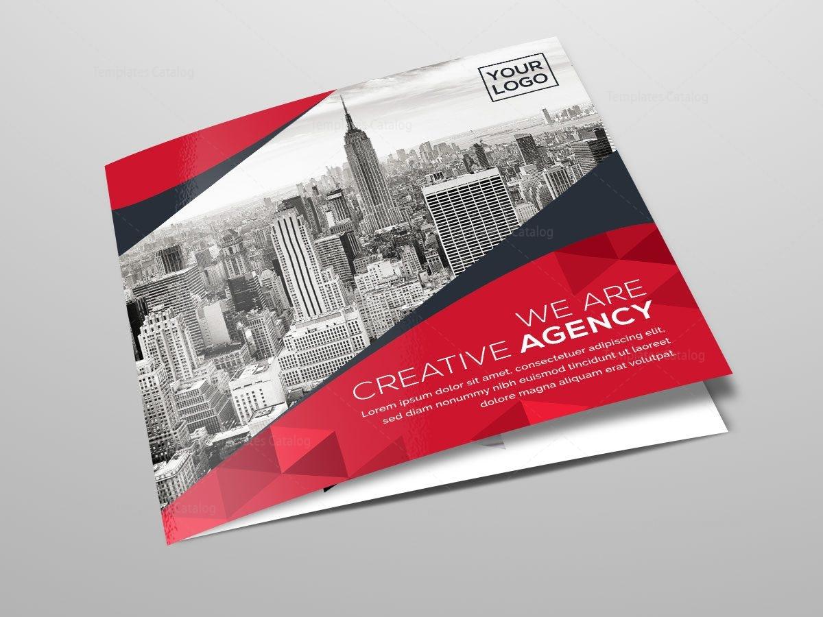 custom brochure templates - square tri fold business brochure template template catalog