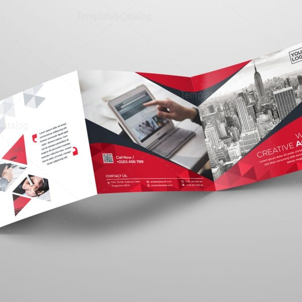Square Tri Fold Business Brochure Template Template Catalog