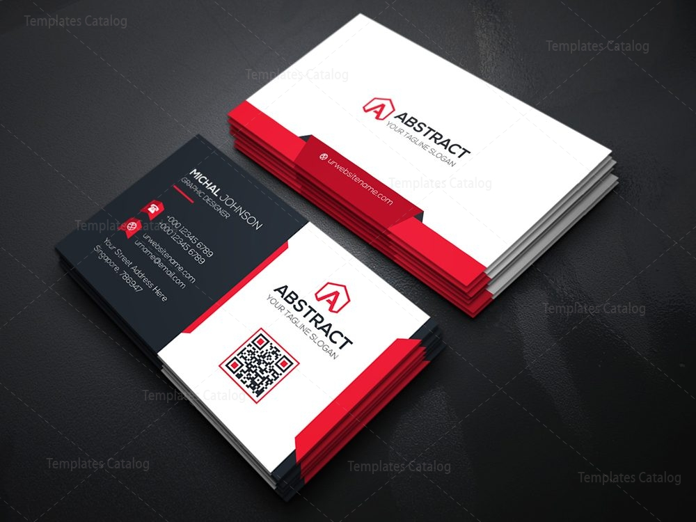 Technology Business Card Template 000074 - Template Catalog
