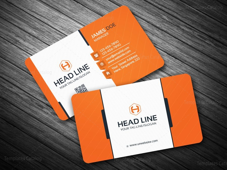 Eps corporate business card template 000082 template catalog for Business card eps template