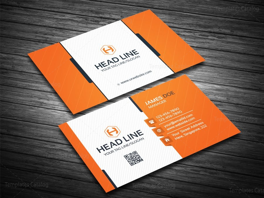 EPS Corporate Business Card Template 000082 - Template Catalog