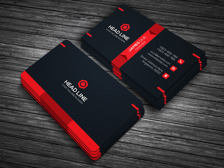 Best business card templates 2017 template catalog premium business card template 1 wajeb Image collections