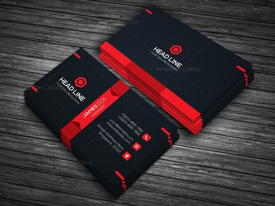 premium business card template 000090 template catalog